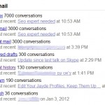 מידע שנאסף דרך Gmail