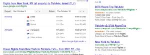 flight from nyc to tel aviv
